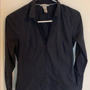 H&M Navy Dress Shirt
